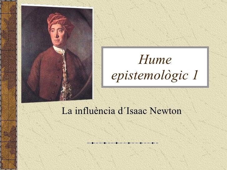 La influència d´Isaac Newton  Hume epistemològic 1