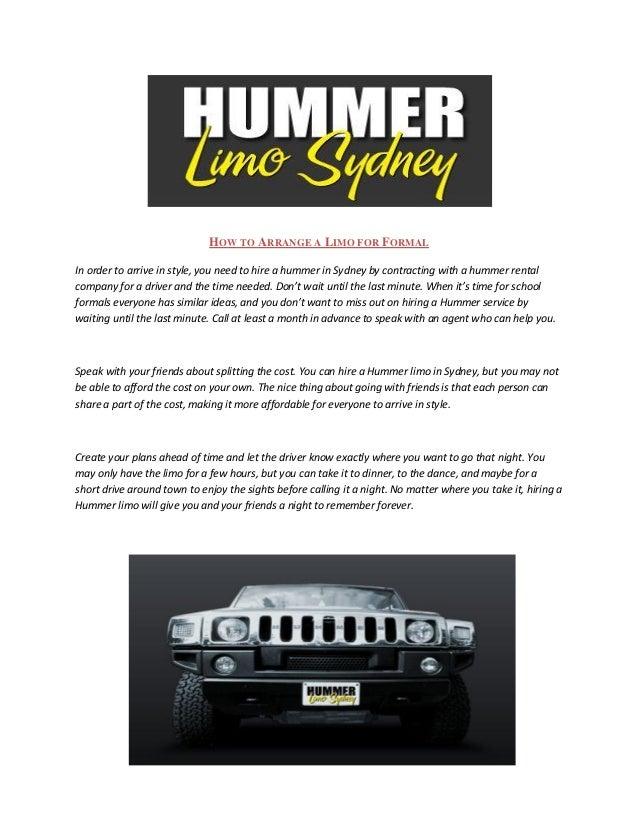 Hummer limo sydney
