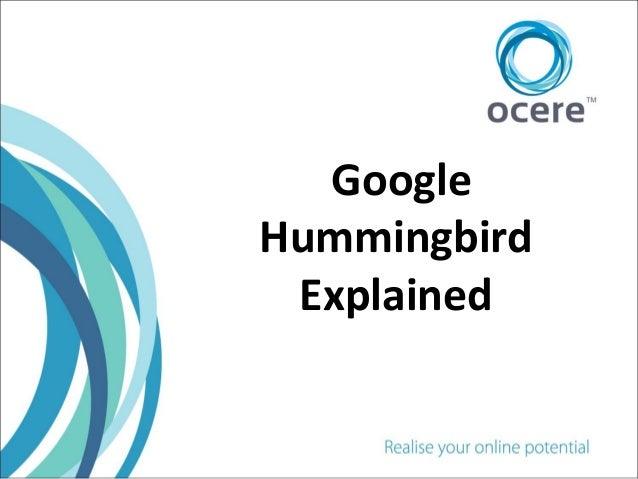 Hummingbird explained