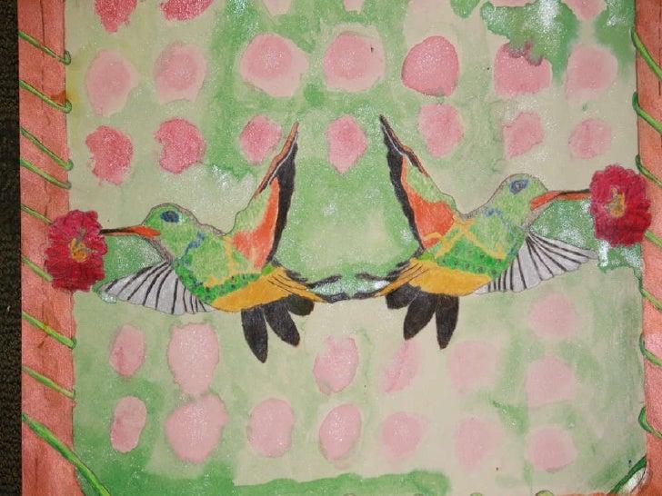 Hummingbird in watercolor