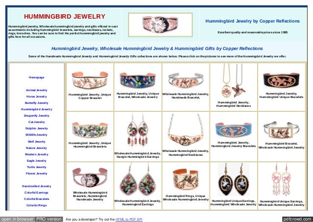 pdfcrowd.comopen in browser PRO version Are you a developer? Try out the HTML to PDF API HUMMINGBIRD JEWELRY Hummingbird j...