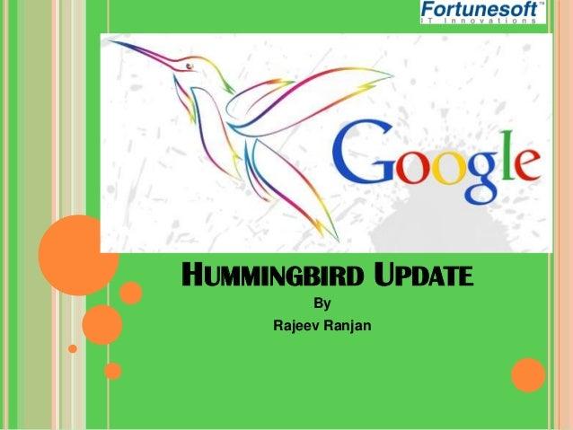 HUMMINGBIRD UPDATE By Rajeev Ranjan