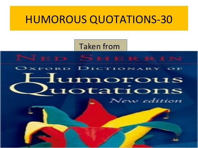 Humorous quotations