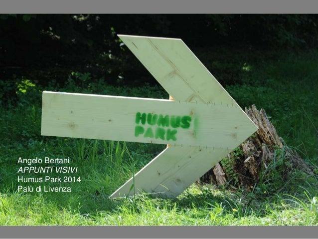 Visitiamo Humus Park, sito del Palù di Livenza (Caneva/Polcenigo, PN) con la preziosa guida del critico d'arte Angelo Bertani