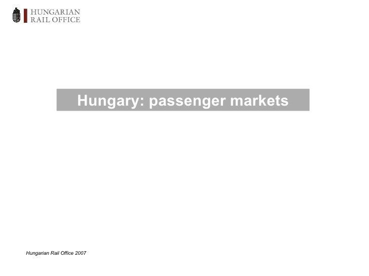 Hungarian passenger market