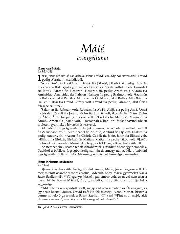 Hungarian bible new testament