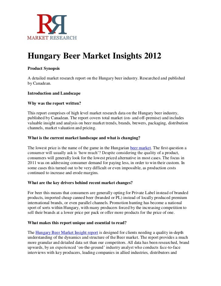 Hungary beer market insights 2012 rn r market research