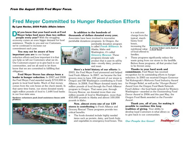 Hunger Article
