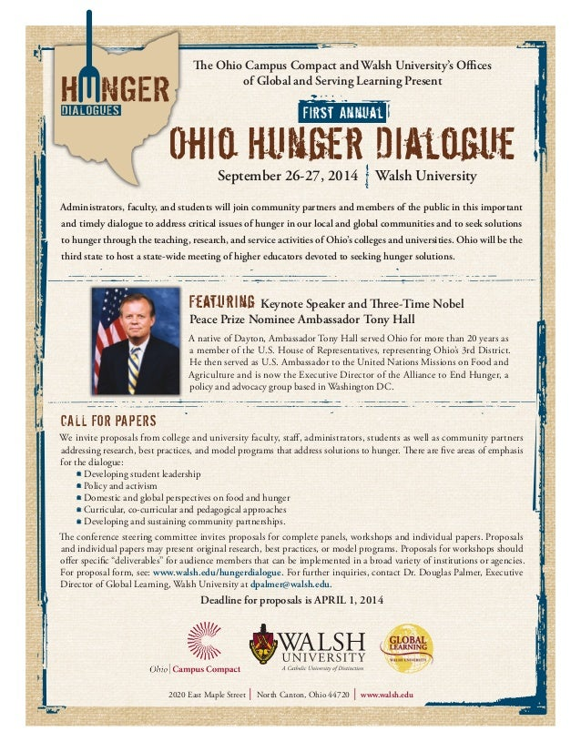 The Ohio Campus Compact and Walsh University's Offices of Global and Serving Learning Present Administrators, faculty, and...