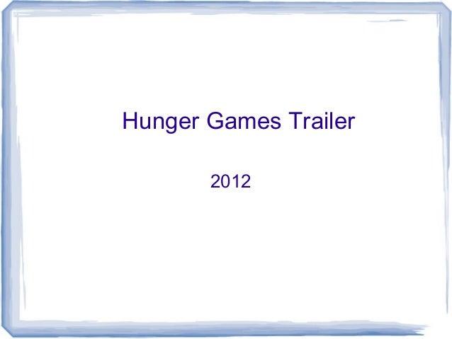 Hunger Games Trailer 2012