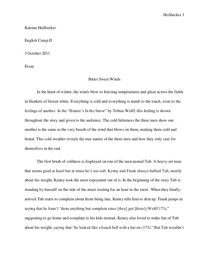 Hunters in the Snow Essay