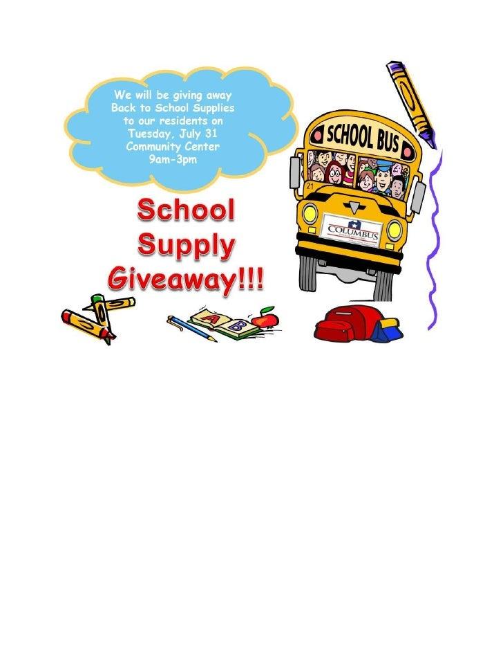 Hunt school supply giveaway