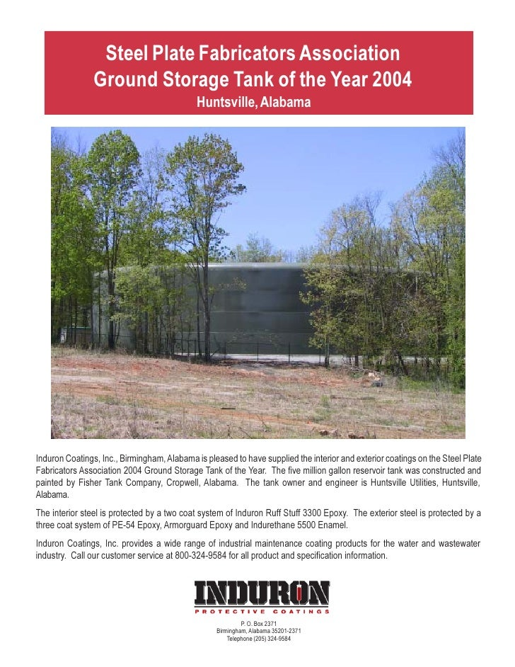 Steel Plate Fabricators Association                Ground Storage Tank of the Year 2004                                   ...