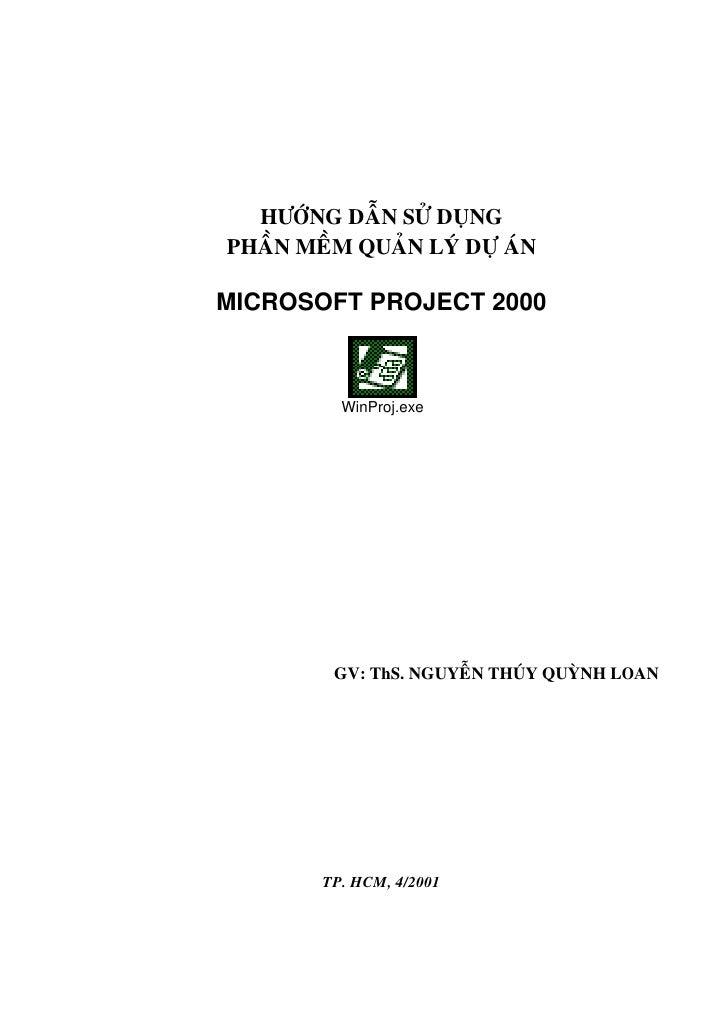 Huong Dan Su Dung Phan Men Ms Project 2000