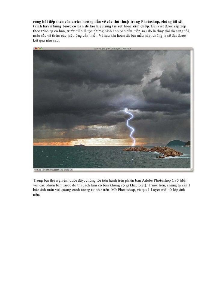 rong bài tiếp theo của series hướng dẫn về các thủ thuật trong Photoshop, chúng tôi sẽtrình bày những bước cơ bản để tạo h...