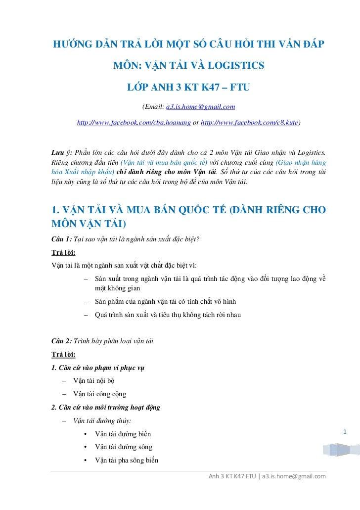 Huong dan tra loi van dap van tai logistics(1)