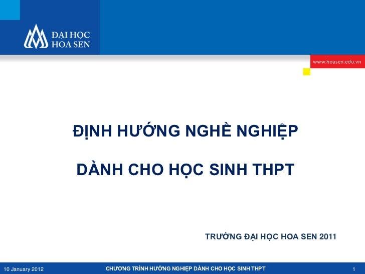 Hướng nghiệp 2011-2011_Đại học Hoa Sen