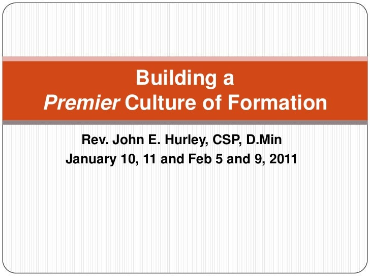 Creating a Culture of Formation