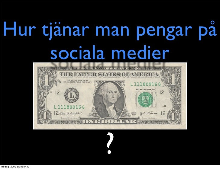 Hur Man Tjänar Pengar På Sociala Medier