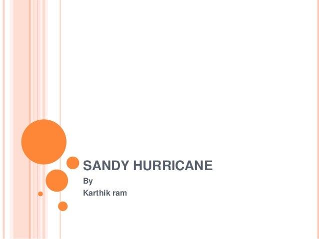 SANDY HURRICANE By Karthik ram