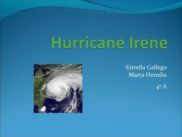 Natural Disasters:Hurricane irene