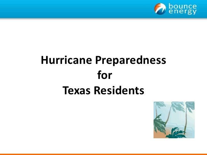 Hurricane Preparedness for Texas Residents<br />