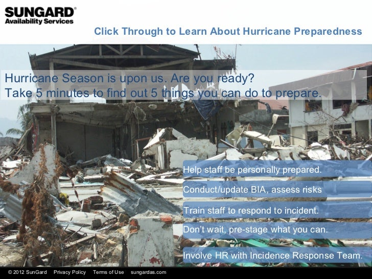 Click Through to Learn About Hurricane PreparednessHurricane Season is upon us. Are you ready?Take 5 minutes to find out 5...