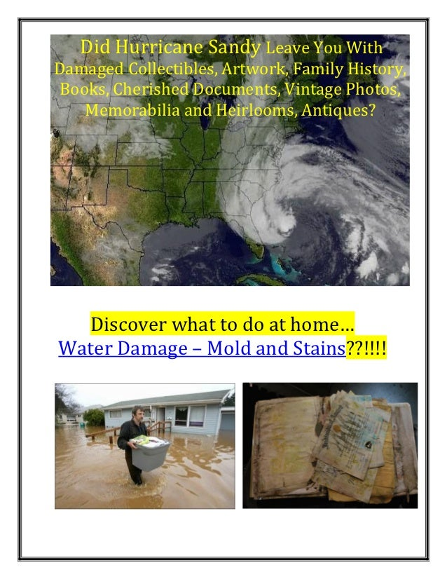 Did Hurricane Sandy Leave You WithDamaged Collectibles, Artwork, Family History,Books, Cherished Documents, Vintage Photos...