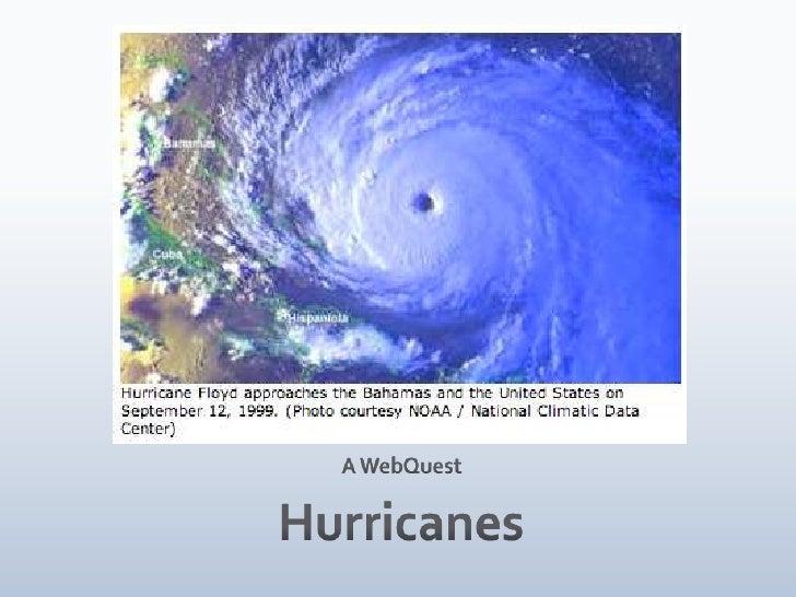 Hurricane web quest