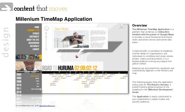 Millenium TimeMap Application                                                            Overviewdesign                   ...