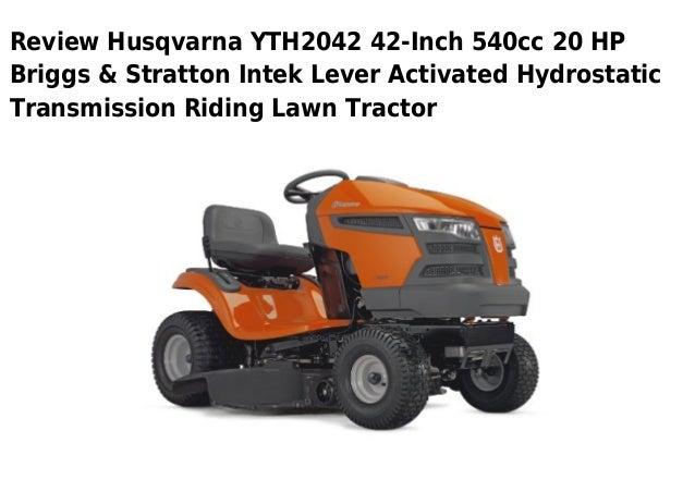 Hushavarna Lawn Tractor Hydrostatic Transmission : Husqvarna yth inch cc hp briggs stratton