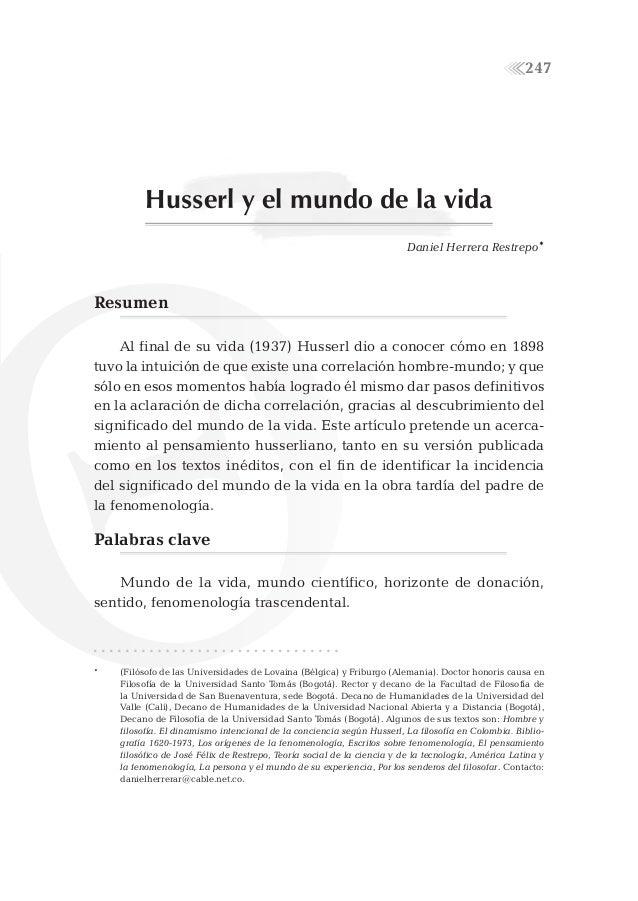 247          Husserl y el mundo de la vida                                                                        Daniel H...