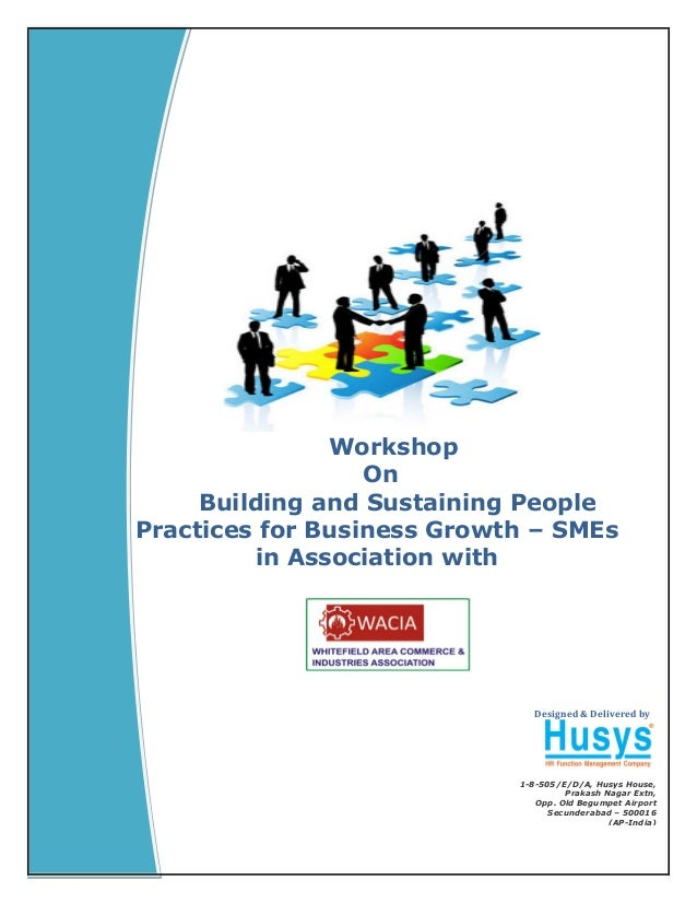 Naresh Workshop On Building and Sustaining People Practices for Business Growth - SMEs For WACIA Designed & Delivered by 1...