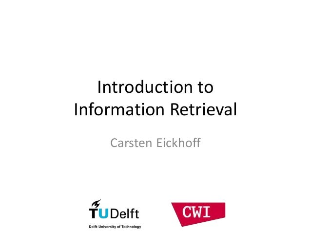 Introduction to Information Retrieval Carsten Eickhoff