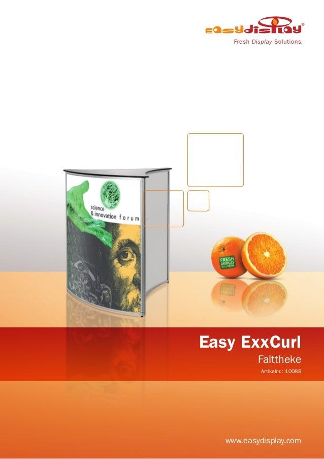 Easy ExxCurl Falttheke Artikelnr.: 10088 www.easydisplay.com