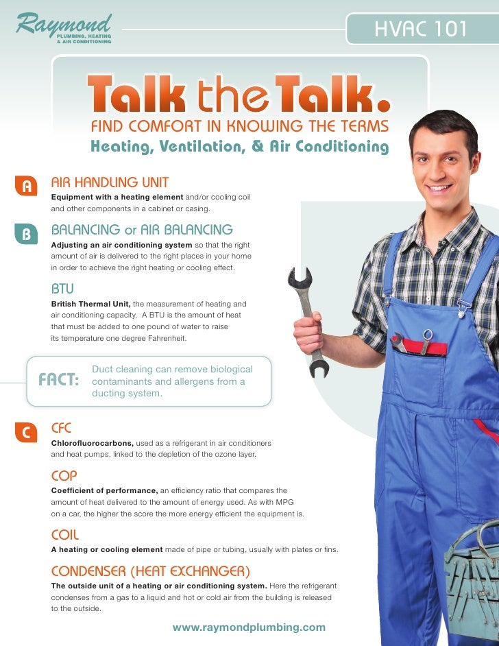 HVAC 101               Talk the Talk.                FIND COMFORT IN KNOWING THE TERMS                Heating, Ventilation...