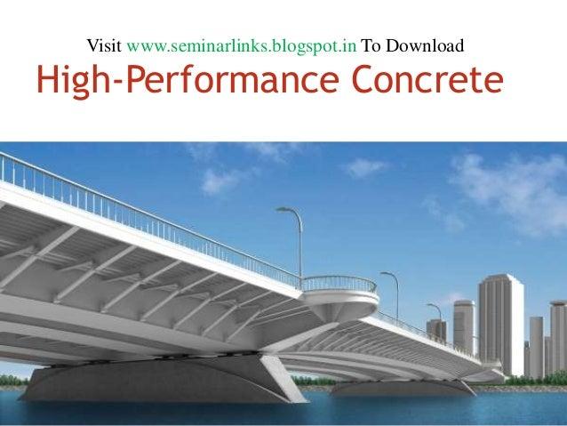 High performance concrete (HPC)