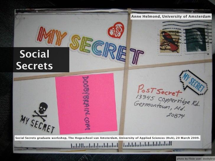 Social Secrets Workshop