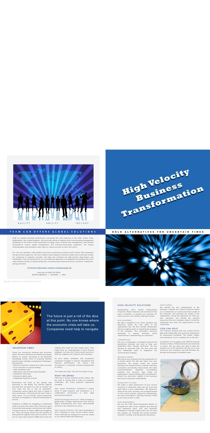 High Velocity Business Transformation