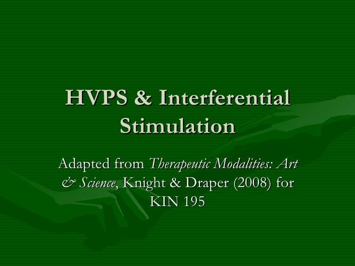 Hvps & Interferential Stimulation