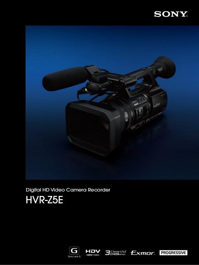 Digital HD Video Camera Recorder  HVR-Z5E