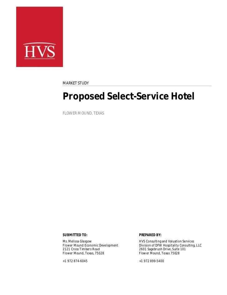 Hvs market study   final - proposed hotel - flower mound tx - 05 31 11