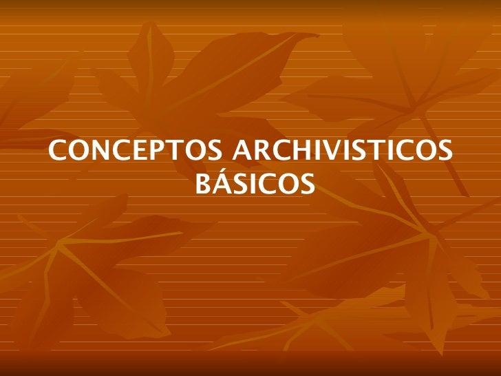 Hv teoría archivística