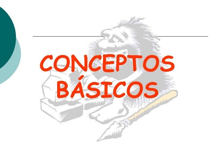 CONCEPTOS BÁSICOS<br />