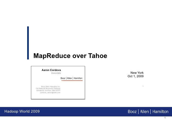 Hw09   Map Reduce Over Tahoe   A Least Authority Encrypted Distributed Filesystem