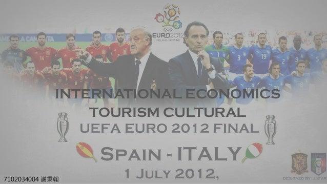 7102034004 謝秉翰 INTERNATIONAL ECONOMICS TOURISM CULTURAL