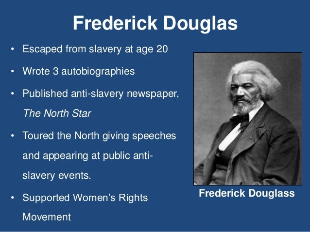 frederick douglass abolitionist movement essay By doing so, frederick douglass became the outspoken leader for slaves in the abolitionist movement read full essay click the button above to view the complete essay, speech, term paper, or research paper.