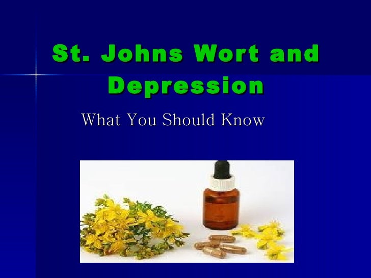 St. Johns Wort and Depression What You Should Know