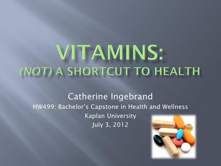 Vitamins (HW499 Unit 4 Project)