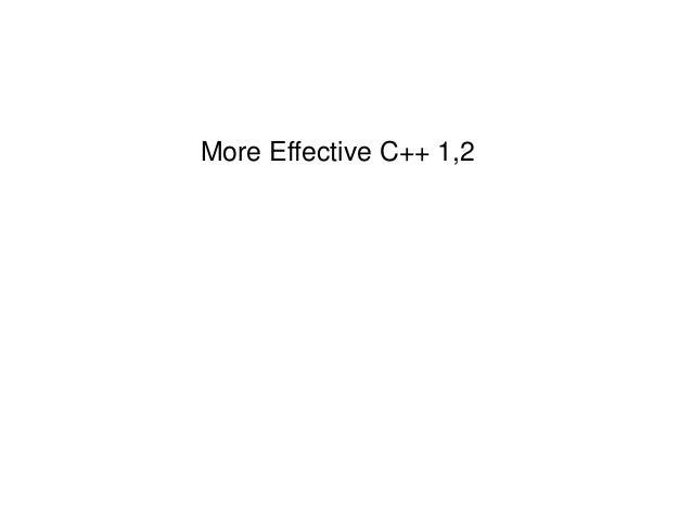 More Effective C++ 1,2